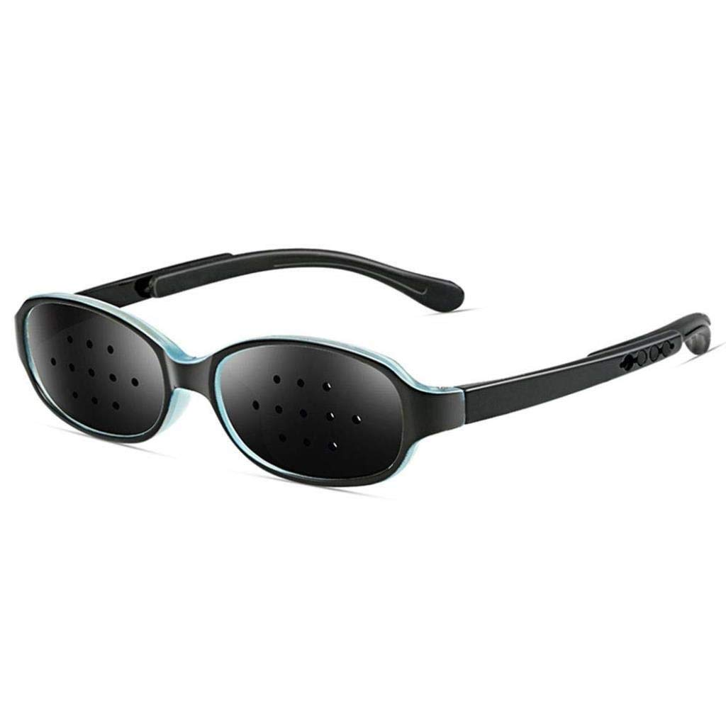Unisex Eyesight Vision Care Vision Improve Pinhole Glasses Eyes Exercise Fashion Natural (Color : Blue Black)