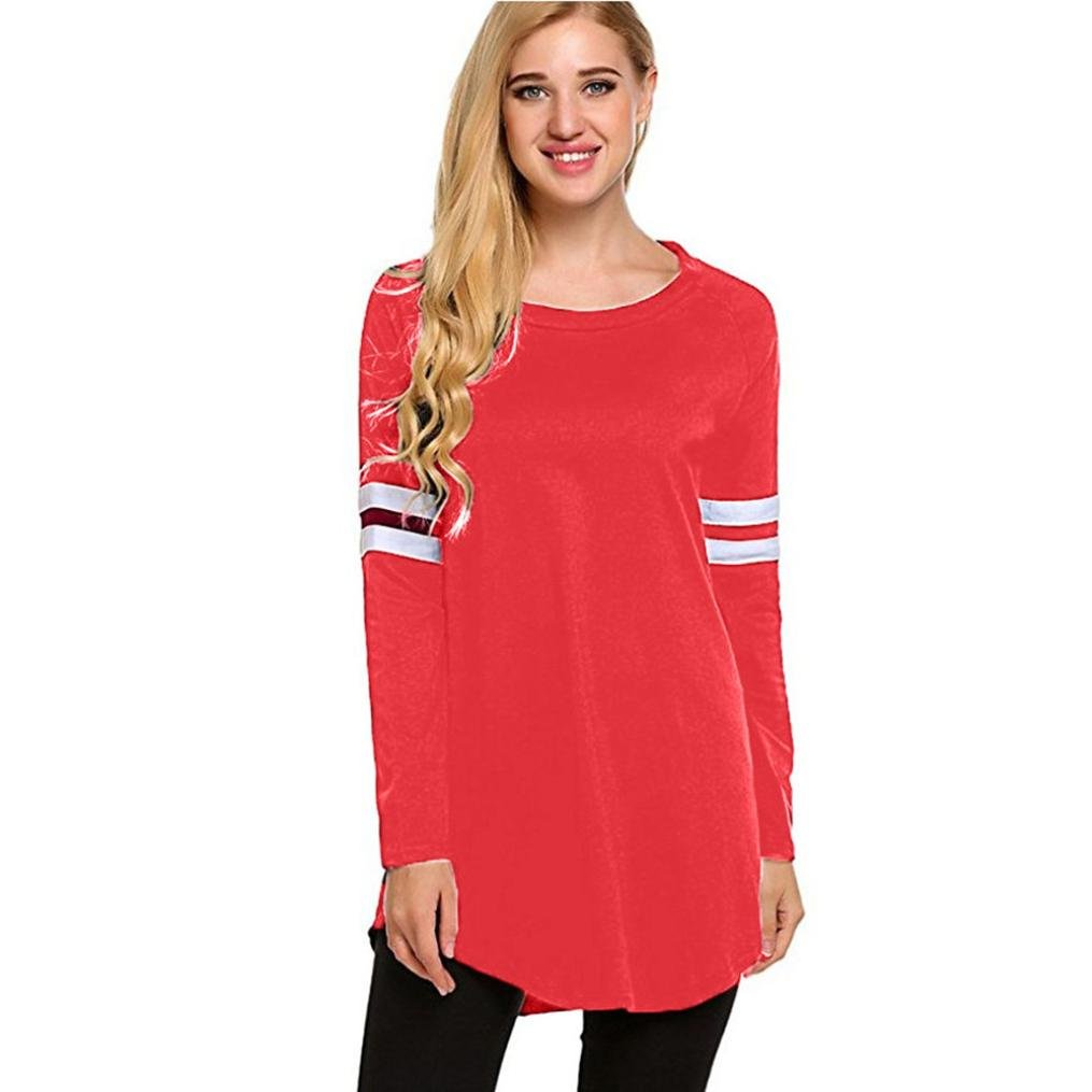 YANG-YI Clearance Women Baseball Autumn Long Sleeve T-Shirt Sweatshirts Blouse Tops
