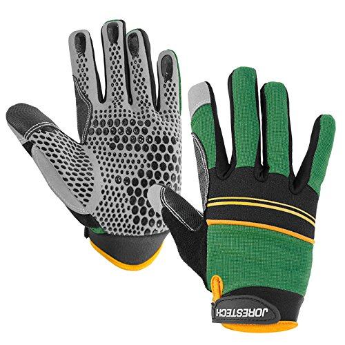 JORESTECH Work Gloves Multipurpose (Medium, Green)