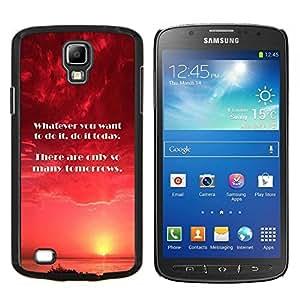 """Be-Star Único Patrón Plástico Duro Fundas Cover Cubre Hard Case Cover Para Samsung i9295 Galaxy S4 Active / i537 (NOT S4) ( Hoy Mañana Momento hacer cita"""" )"""