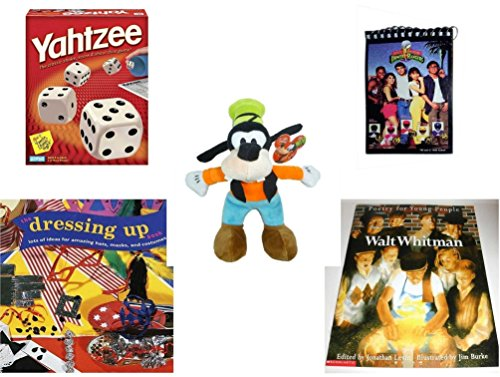 Power Rangers Dressing Up (Children's Gift Bundle - Ages 6-12 [5 Piece] - Yahtzee Game - 1993 Mighty Morphin Power Rangers Notepad - Just Play Disney Junior Mickey Mouse Clubhouse Goofy Bean Bag Plush 9.5