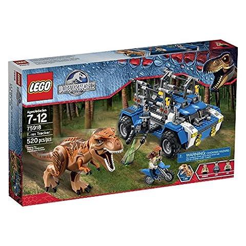 LEGO Jurassic World T. Rex Tracker 75918 Building Kit - Jaw Snapping T-rex Dinosaur Toy