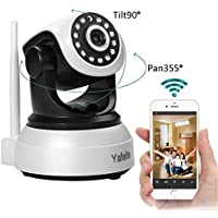 IP Camera WIFI Camera Yafeite 720P HD Used for baby/child/pet/nanny monitor Pan/Tilt Two-Way Audio and Night Vision 380° Black & White