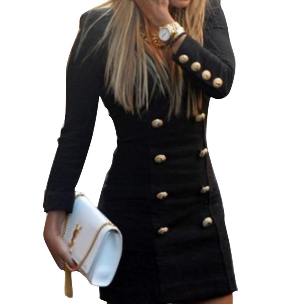 XL Dragon868 vestiti donna elegante corto tubino taglie forti xl maniche lunghe neri estate mare regalo