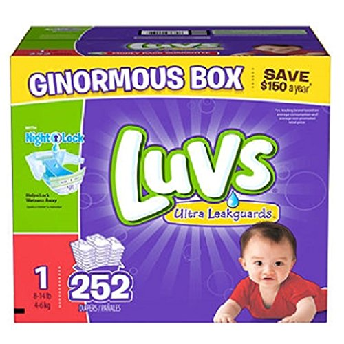 Luvs Ultra Leakguards Diapers, One Month Supply, Size 2, 240 Count by Luvs