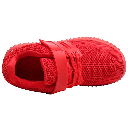 Mesh Jamron Unisex Summer Shoes Running Gym Women Up Adults Shoes Breathable Girls Lace Sport Lightweight Sneakers Red Velcro Boys qSqYr