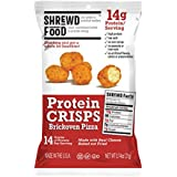 Schlau Food Brickoven Pizza Protein Crisps | High Protein, Low Carb, Gluten Free Snacks | Real Cheese, No Artificial Flavors | Soy Free, Peanut Free (8-Pack of .74oz Bags)