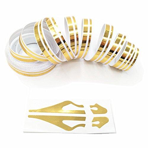 Gold Pinstripe Tape / ZATOOTO DIY Car Sticker Decal Vinyl / Automotive Pinstriping Tape ()