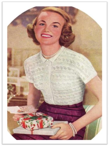 2666 Lace Knit Blouse Vintage Knitting Pattern Kindle Edition By