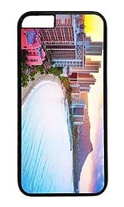 MOKSHOP Adorable waikiki beach hawaii Hard Case Protective Shell Cell Phone Cover For Apple Iphone 6 (4.7 Inch) - PC Black