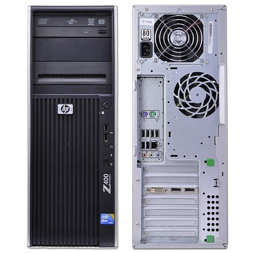 HP Z400 Workstation, 1x Xeon W3680 3.33GHz Six Core Processor, 16GB DDR3 Memory, 1x 2TB Hard Drive, NVIDIA Quadro 4000, DVD-RW, Windows 10 Professional Installed ()