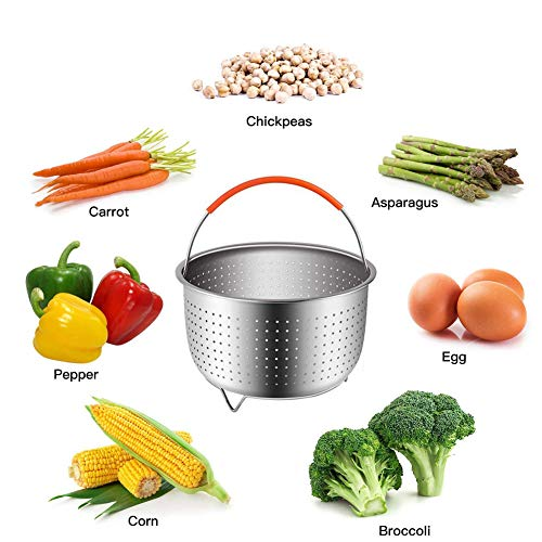 14pcs Accessories for Instant 6 QT&8QT, Steamer Basket, Silicone Bites Mold, Egg Rack,Non-Stick Springform Pan,Food, Pot Tong, Oven Mitts, Oi, 6QT&8QT by Chiyan by Chiyan (Image #7)