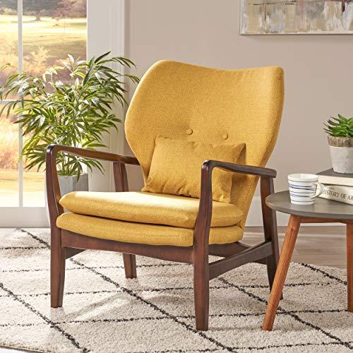 Christopher Knight Home 304780 Ventura Mid Century Modern Fabric Club Chair, Mustard - 2