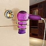 OLQMY-All Copper Rose Gold Hair Dryer, Air Rack, European Style Golden Bathroom Hair Dryer