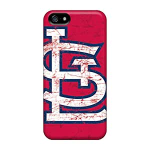 Bumper Hard Phone Cases For Iphone 5/5s (eAz1756YwWh) Custom Beautiful St. Louis Cardinals Pattern