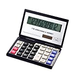 Calculator Folding with 12-Digits Large Display Solar and Battery Dual Power School Office Electronics Product