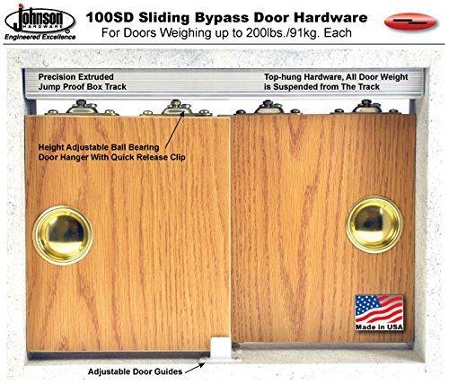 100SD Sliding Bypass Door Hardware (96 In. Length 2 Door System) by Johnson Hardware (Image #4)
