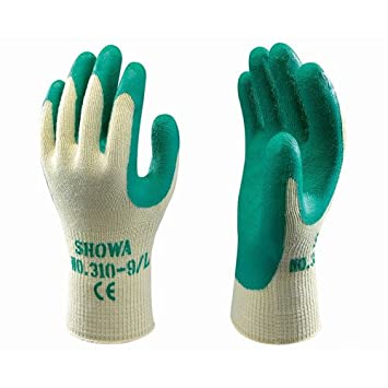 10 x Pairs Quality Builders Grip Work Gloves Green