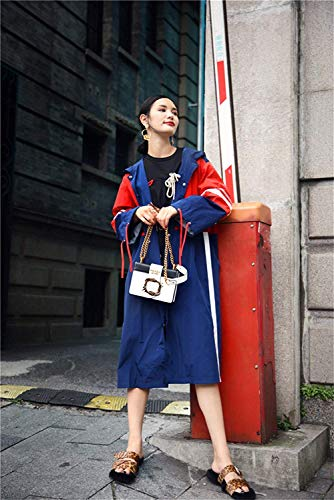 Otoño Adelina Primavera Anchos Largos Fashion Gabardinas Blau Capa Colores Larga Manga Windbreaker Con Informales Splice Outwear Chaquetas Mujer Retro Elegantes Capucha q0S0IwXr