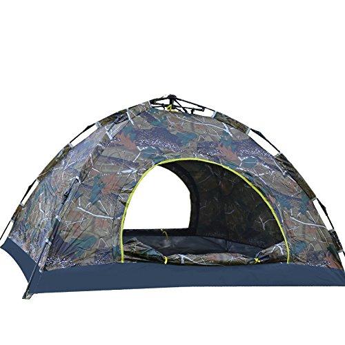 OUTDOT Camping-Pop-up-Zelt, Tragbares Automatisches Strandzelt, Camouflage-Schnell Zelt, WasserBesteändig, Sonnenschutz Im Freien mit Tragetasche (Für 2 Personen), 200  150  110Cm