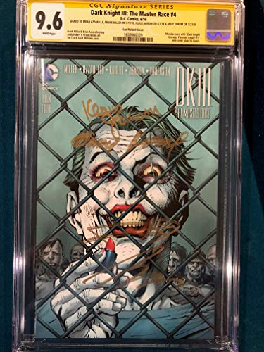 FRANK MILLER 4x SIGNED DK III The Master Race CGC 9.6 Andy Kubert Jim Lee Variant Klaus Janson
