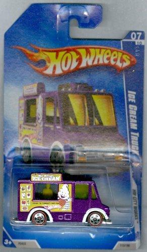 Hot Wheels 2009-113 Ice Cream Truck Red Line HW City Works 5-Spoke PURPLE 1:64 Scale 1:64 Scale (Saleen Truck)