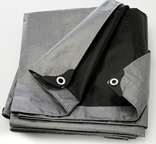 Tarp Cover Silver/Black 20X30 Heavy Duty 8 Mil Thick Material, Waterproof, Great for Tarpaulin Canopy Tent, Boat, RV or Pool Cover!!! (Boat Tarps)