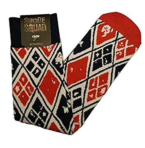 Suicide Squad Harley Quinn Socks Bioworld Sock Size 10-13 Shoe Size 8-12 -