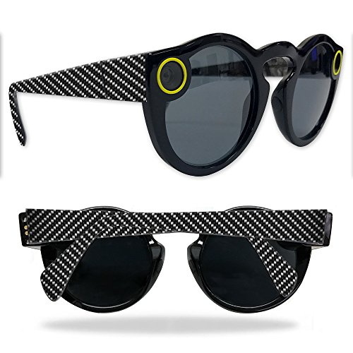 Skin For Snapchat Spectacles – Carbon Fiber | MightySkins Protective, Durable, and Unique Vinyl Decal wrap cover | Easy To Apply, Remove, and Change Styles | Made in the - Fibre Spectacles Carbon
