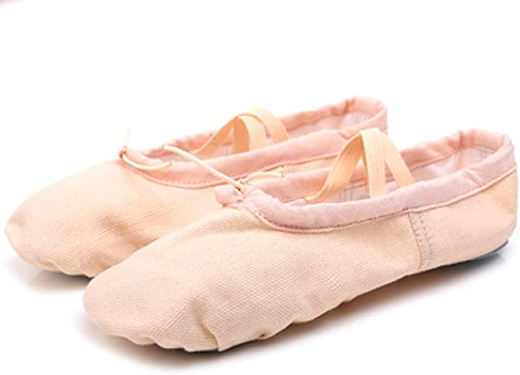 TEELONG Ladies Ballet Shoes Women Dance Shoes Girls Canvas Split Sole Dance Slippers Yoga Ballet Pointe Fitness Gymnastics Soft Bottom Flats Shoes Size 4 5 6 UK