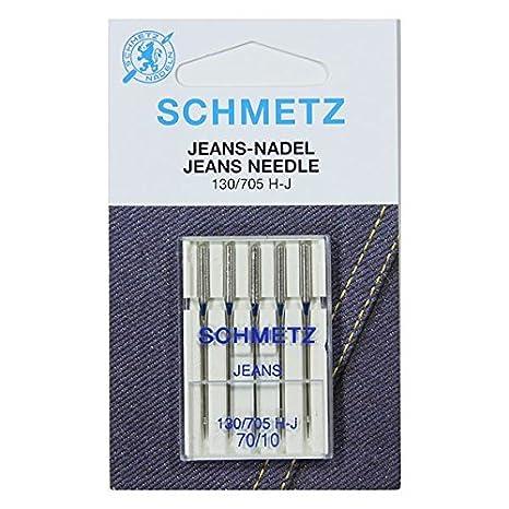 5/Schmetz Jeans coser agujas Surtido 110//18 plano pist/ón 130//705/H de J grosor 90//14 100//16