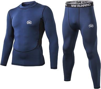 MeetHoo Conjuntos Térmicos para Hombre, Set de Ropa Térmica Camiseta Pantalones Interior Función Deporte Running Ciclismo Esquí Fitness Invierno: Amazon.es: Ropa y accesorios