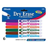 DDI - BAZIC Fancy Color Fine Tip Dry-Erase Marker 6 Pack (1 pack of 72 items)