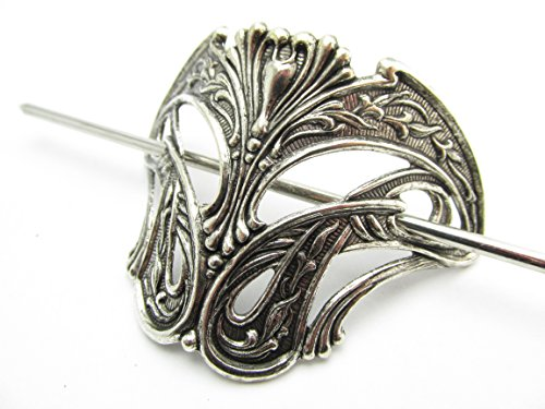 Nouveau Barrette (Art Nouveau inspired hair stick pony tail holder Angelina Verbuni Designs USA)