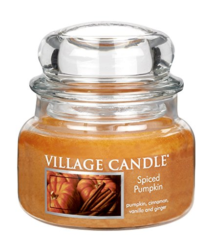 Village Candle Spiced Pumpkin 11 oz Glass Jar Scented Candle, Small
