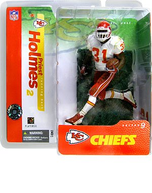Priest Holmes 2nd Edition Kansas City Chiefs White Jersey Variant Alternate Chase McFarlane NFL Series 9 Action Figure – DiZiSports Store