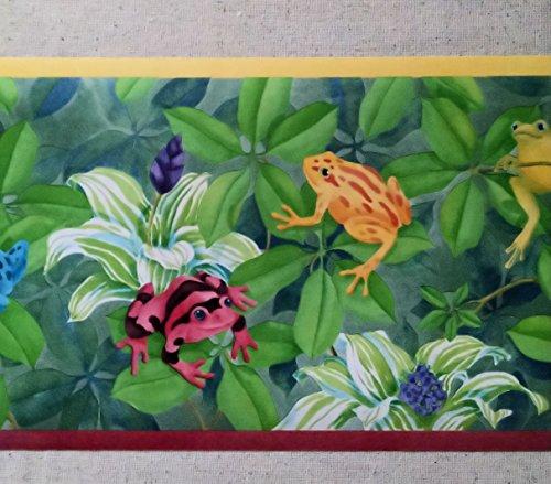 (Jungle Rain Forest Frogs Wallpaper Border CC810B)