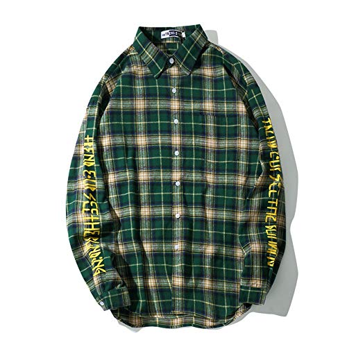 Uomo Graffiti Camicia Shopping Green Da Go Easy Stampa Con q6OxII