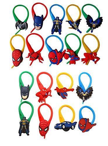 AVIRGO 18 pcs Colorful Soft Zipper Pull Charms for Jacket Backpack Bag Pendant Set # 212 -4