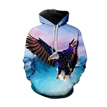 GEFANENR Sudaderas 3D Sudaderas Hombre Mujer con Sombrero Estampado De Animales De Águila Volando con Capucha,Picture,4XL: Amazon.es: Deportes y aire libre