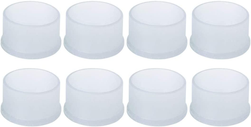"""uxcell Clear PVC Chair Leg Caps End Tip Feet Cover Furniture Slider Floor Protector 8pcs 2"""" 50mm Inner Diameter, Reduce Noise Prevent Scratch"""
