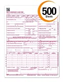 CMS 1500 Claim Forms ''NEW'' HCFA (Version 02/12) - Health Insurance, Laser Cut Sheet - 500 Sheets