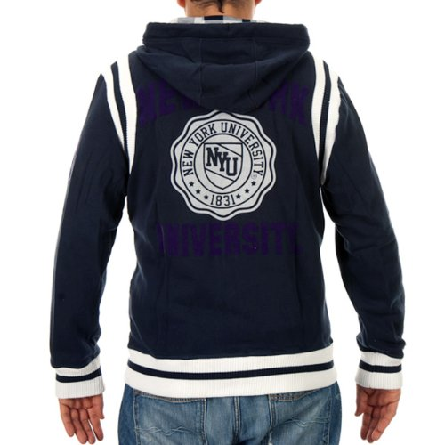 NCAA New York University Full Zip Hooded Sudadera Talla:S: Amazon.es: Deportes y aire libre