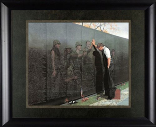 Reflections Lee Teter 19x17 Quality Framed Print Vietnam War Wall Memorial Veterans