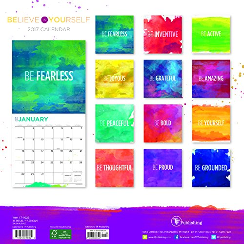 2017 Believe in Yourself Wall Calendar