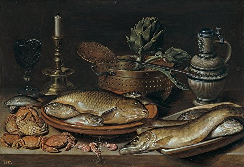 Oil Painting 'Peeters Clara Bodegon(II) 1611', 8 x 12 inch / 20 x 30 cm , on High Definition HD canvas prints is for Gifts And Hallway, Kids Room And (Halloween Talking Flashcards)