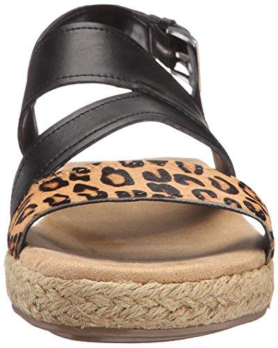 Aerosoles Sandalias de cuña de la mujer Globetrotter Alpargata Leopard Tan