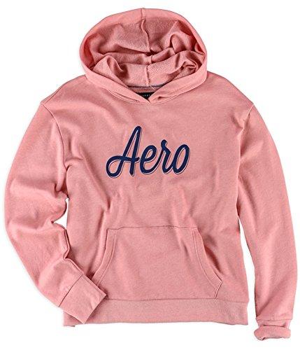 (Aeropostale Womens Script Hoodie Sweatshirt, Pink, Large )
