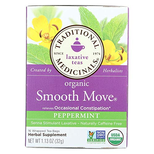 Traditional Medicinals Organic Smooth Move Herbal Tea Pepper