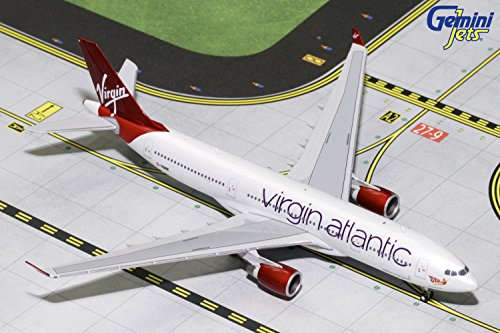 GeminiJets Virgin Atlantic A330-200 G-VMIK 1:400 Scale Diecast Model Airplane, White